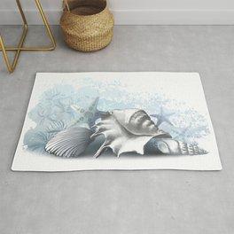 Seashels, shellfish underwater marine painting Rug