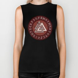 Valknut | Viking Warrior Symbol Triangle Biker Tank