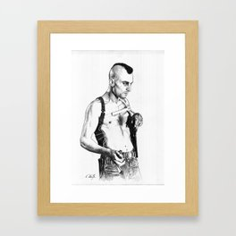 Taxi driver Robert de niro Framed Art Print
