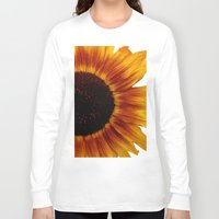 sunflower Long Sleeve T-shirts featuring Sunflower5 by Regan's World