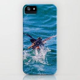 Running puffin iPhone Case