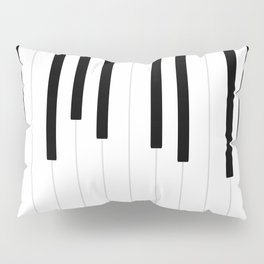 Piano keys, music background #society6 #decor #buyart #artprint Pillow Sham
