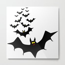 Isolated Bats Metal Print