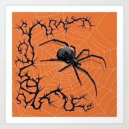 Briar Web- Halloween Art Print