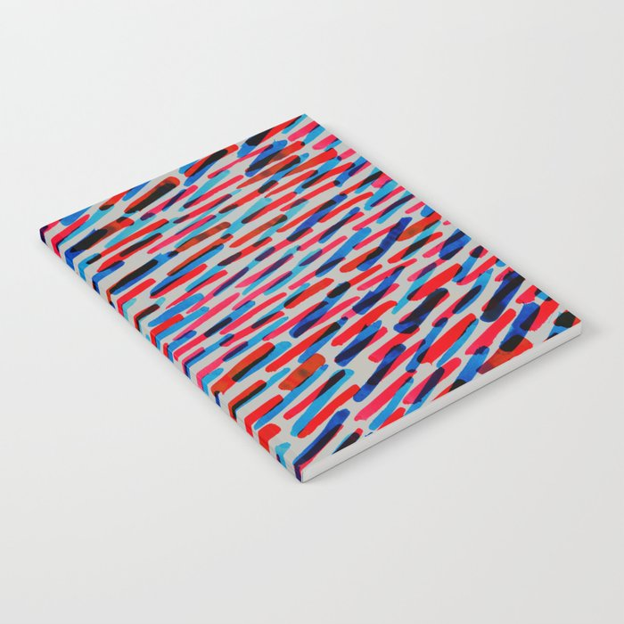 blue and red Notebook