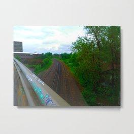 Train Tracks Metal Print