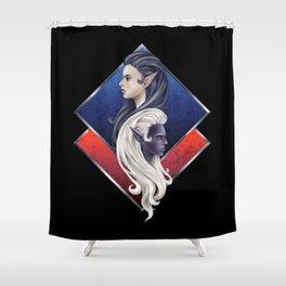 Elves - Dark and Light Shower Curtain