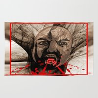 zombie Area & Throw Rugs featuring Zombie by Art-Motiva
