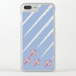 Red Arrows Kuwait Sky Clear iPhone Case