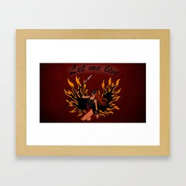 Resident Evil Claire Redfield Jacket Framed Art Print