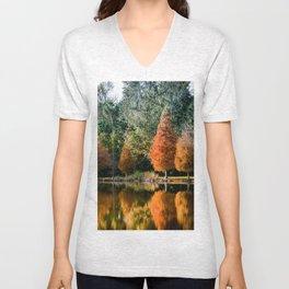 Autumn Reflection Unisex V-Neck