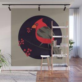 Cardinal Song Wall Mural