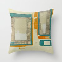 mid century Throw Pillows featuring Mid Century Modern Abstract by Corbin Henry