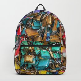 Pastel colored love locks in Paris | Noriko Aizawa Buckles Backpack
