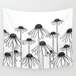 Daisy Doodle Wall Tapestry