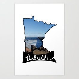 Lighthouse in Duluth Minnesota Art Print