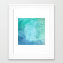 Blue Watercolor Texture Framed Art Print
