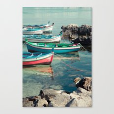 Sicily boats Canvas Print