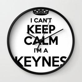 I cant keep calm I am a KEYNES Wall Clock