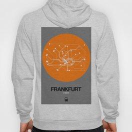 Frankfurt Orange Subway Map Hoody