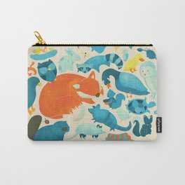 Wildlife Collage Woodland Creatures and Cute Animals Carry-All Pouch