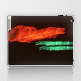 Night Lights Orange Drive-in Laptop & iPad Skin