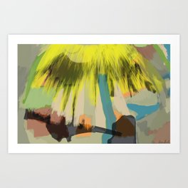Yellow Contemplation Art Print
