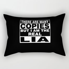 I Am Lia Funny Personal Personalized Gift Rectangular Pillow
