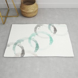 Abstract Coffee Rings Rug