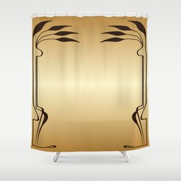 Golden Art nouveau Shower Curtain