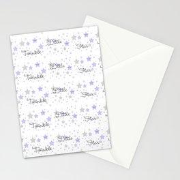 Twinkle Little Star Purple Baby Girl Nursery  Stationery Cards