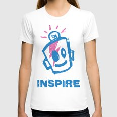 Inspire White Womens Fitted Tee LARGE