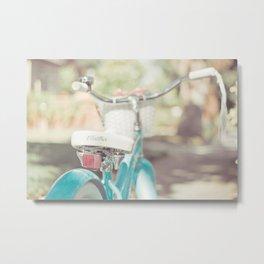 Little Bicycle Metal Print
