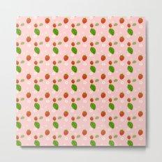 Strawberry Plant Metal Print