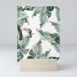 Tropical Banana Leaves Mini Art Print