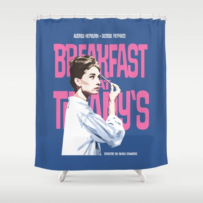 Breakfast At Tiffanys Movie Poster Shower Curtain