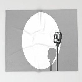 Musical Event Microphone Poster Throw Blanket