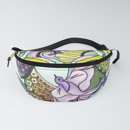 A Frogs Inner Beauty, find the Dove, Snake, Fish and Butterfly Within Fanny Pack