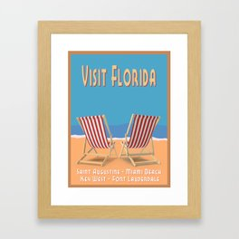 Florida Vintage Travel Poster Framed Art Print