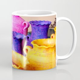 colorful clay pots Coffee Mug