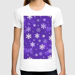 Light Purple Snowflakes T-shirt