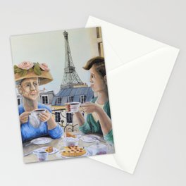 Tea Time in Paris Stationery Cards