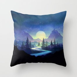 Touching the Stars Throw Pillow