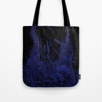 kraken Tote Bags featuring Kraken by Salih Gonenli