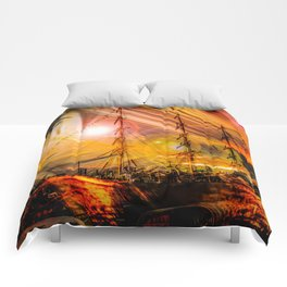 Romance of sailing Comforters