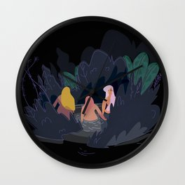 Night Pond Wall Clock