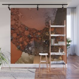 Study of textures and terra cotta Wall Mural