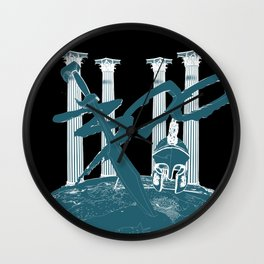 300 Blue and Black Wall Clock
