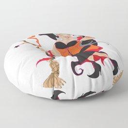 Granny Hex (Orange) Floor Pillow