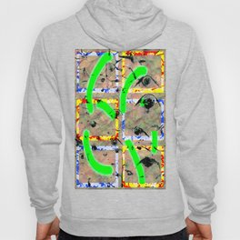 Collage with birch wood Hoody
